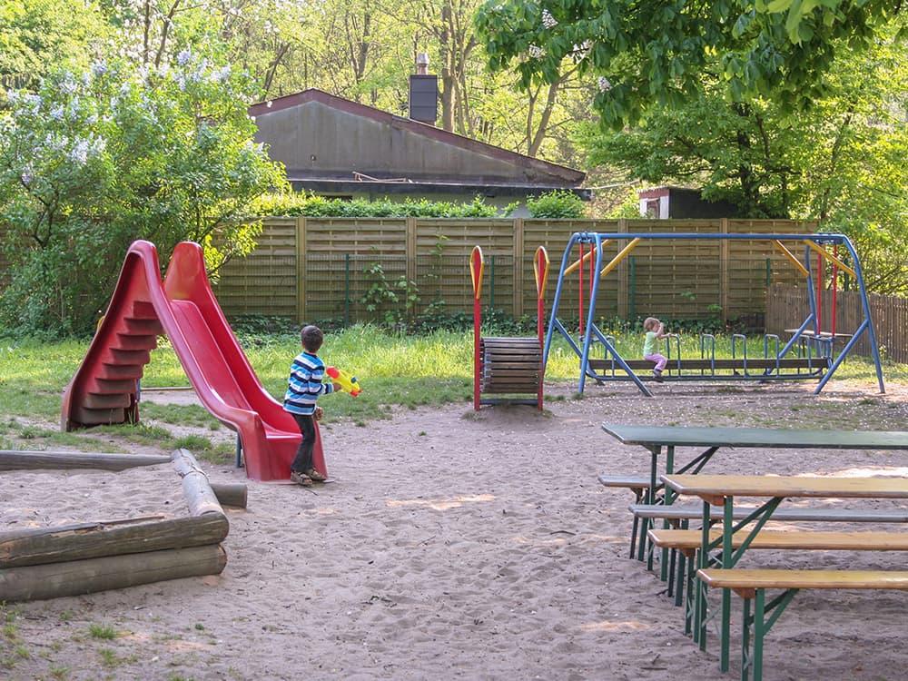 Der Spielplatz im Strandcafe